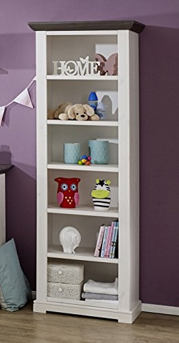 Ordnung im Baby- oder Kinderzimmer mit dem Standregal 64cm Kiefer Massivholz weiß