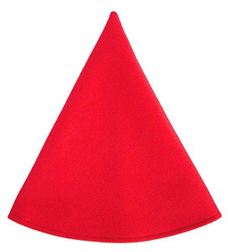 Red Gnome Hat Women's Costume Cap Cherry Red