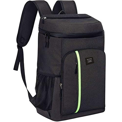 Picnic basket Portable Picnic Bag Insulated Cooler Bag Large Capacity Bag Food Backpack Waterproof Ice Pack Lunch Bags Lunch Bags (Color : Black)