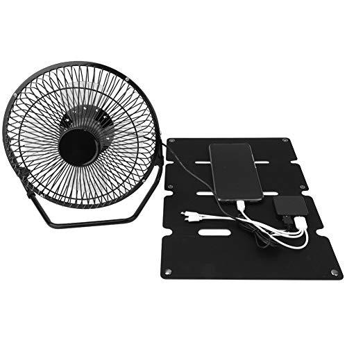 Alomejor Solar ventilator, 8 inch, 14 W, zonnepaneel, aangedreven ventilator voor camping, caravan, jacht, kas, hondenhuis, kippenstal, ventilator