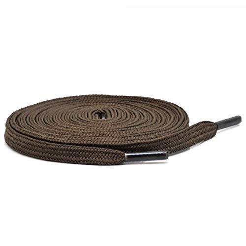 1 Paar Collonil Schnürsenkel - flach - 9 mm breit - verschiedene Farben und Längen (90 cm, dunkelbraun)