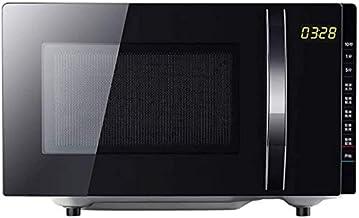 JINHUADAI Retro 700 vatios encimera Horno microondas, Set de Cocina 12 preprogramado, un Reloj Digital, de fácil Limpieza de Interiores, Negro
