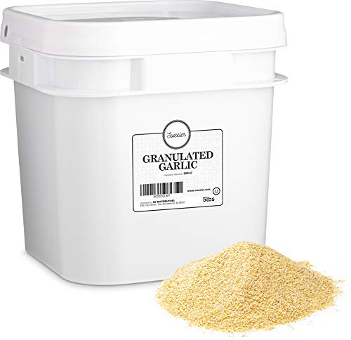 Sweeler, Granulated Garlic, Value Large Bucket Size for Food Service or Home Use, 5lbs