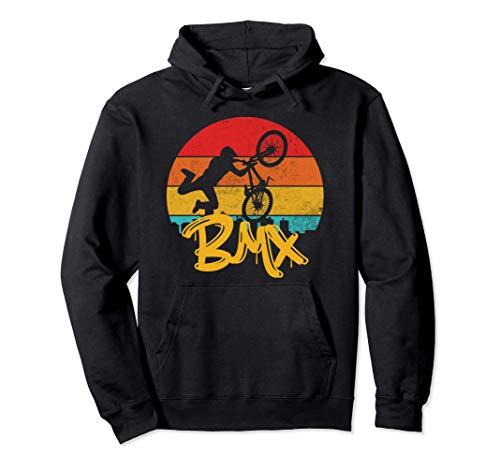 BMX Vintage Freestyle Bicicletta Bici Felpa con Cappuccio