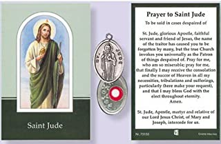 St.Jude Relic Medal with Prayer to Saint Jude.