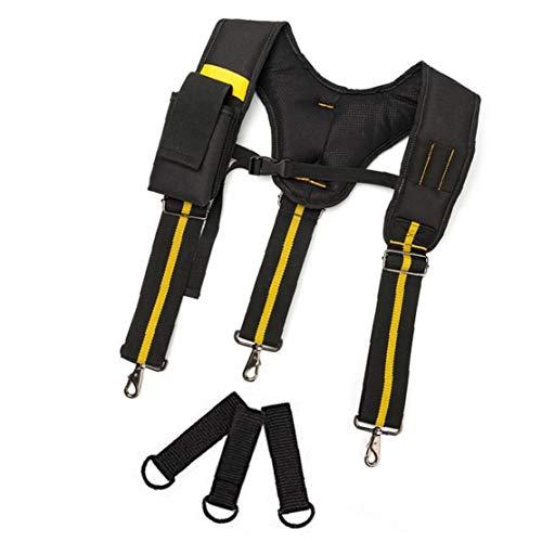 nJiaMe Cinturón de Herramientas Tirantes Acolchado Lumbar Ajustable para Trabajo Pesado Soporte...