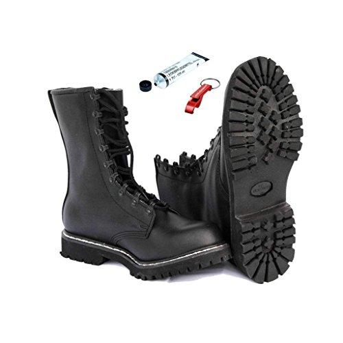 AOS-Outdoor Springerstiefel + original BW Schuhpflegemittel Schlüsselanhänger 48