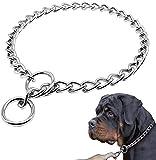 Supet Perros Collares de adiestramiento Collar Consistent para Perro Collares de Acero Cadena de Metal Collar Adiestramiento Perro