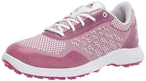 adidas womens Fx4060 Golf Shoe, Ftwr White/ Power Berry/ Ftwr White, 8.5 US