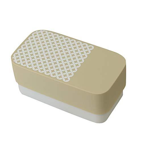 弁当箱 日本製 国産 食洗器対応 電子レンジ対応 にっぽん伝統色 長角弁当 和文様 素色 180cc310cc 二段 ランチバンド付き