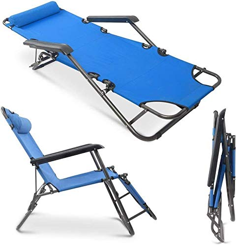 Mytunes Folding Camping Reclining Chairs,Outdoor Lounge Chairs, Patio Outdoor Pool Beach Lawn Recliner