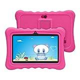 HXY Tablet per bambini con WiFi Bluetooth 7 pollici Tablet 1024x600 per bambini Android 6.0 Quad Core 1GB 16GB Dual Camera Custodia per tablet a prova di bambino Educativo per bambini