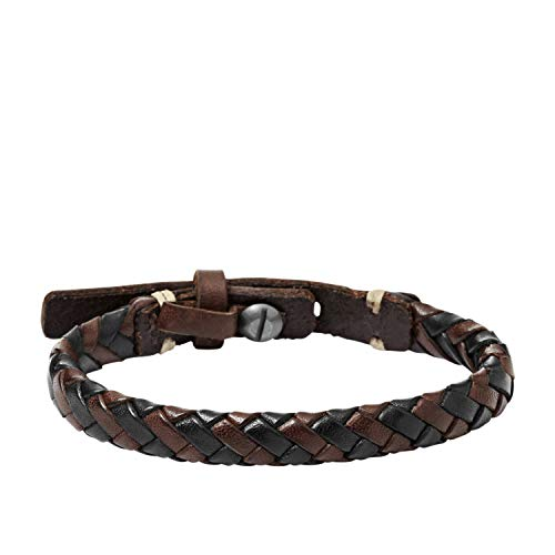 Fossil Men's Braided Bracelet Brown and Black Bracelet JA5932716