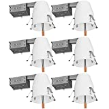 Sunco Lighting 6 Pack of 4' inch Remodel LED Can Air Tight IC Housing LED Recessed Lighting- UL Listed and Title 24 Certified