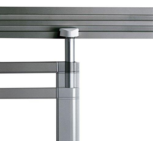 Legamaster 7-320164 whiteboard voor Legaline Dynamic wandrailsysteem, geëmailleerd, 100 x 200 cm, geanodiseerd aluminium