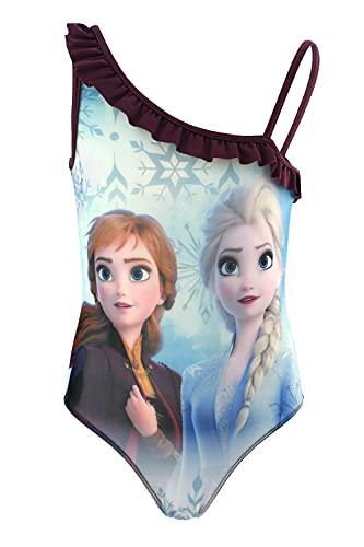 Frozen Movie Disney - Bambina - Costume Intero 1 Pezzo Mare Piscina - Prodotto Originale con Licenza Ufficiale [1318 Viola - 4 Anni]