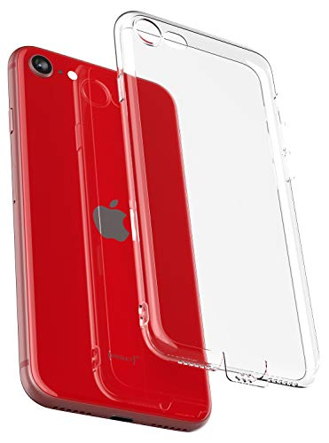 COVERbasics Cover iPhone SE 2020 iPhone 7 iPhone 8 (PROCAM 0.33mm) Custodia Trasparente con Protezione Fotocamera e Tappo Antipolvere in Silicone Gel TPU Slim Compatibile con Apple iPhone 7 8 SE 2020
