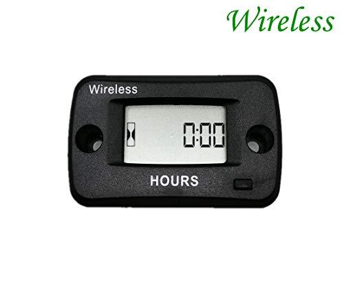 Jayron JR-HM019V Medidor de horas activado por vibración Contador de horas inalámbrico digital inalámbrico recordatorio de mantenimiento reiniciable