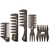 Baasha Quiff Styling Comb, Professional Hair Comb Set for Men, Styling Comb for Men, Pick Combs Set,...