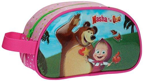 Masha y el Oso In The Wood Neceser de Viaje, 3.36 litros, Color Rosa