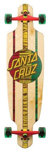 Santa Cruz Skateboard Longboard Rasta Drop, natural/rasta, 9.0