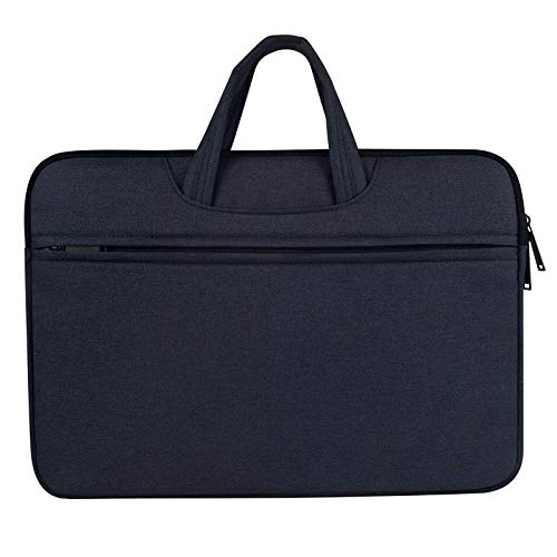WXX Breathable Wear-resistant Shoulder Handheld Zipper Laptop Bag, For 12 inch and Below Macbook, Samsung, Lenovo, Sony, DELL Alienware, CHUWI, ASUS, HP(Black) (Color : Navy Blue)