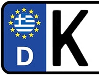 2x Kennzeichen Aufkleber GRIECHENLAND Nummernschild Sticker (ca.2 cm)