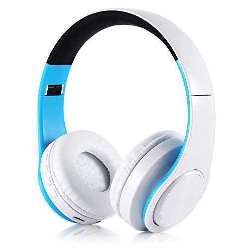 Not application Stereo Gaming Headset,Bass Surround, Soft Memory Earmuffs Headset, Sound Intone B6 Bluetooth Wireless Headphones Foldable Gaming Headset with Glow Light Support TF Card for PC MP3