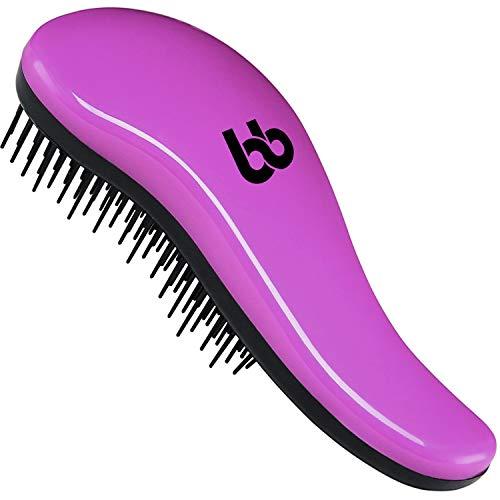 Detangling Hair Brush, Best Detangler Comb for Women, Men & Children, Pink, By Beauty Bon by Beauty Bon