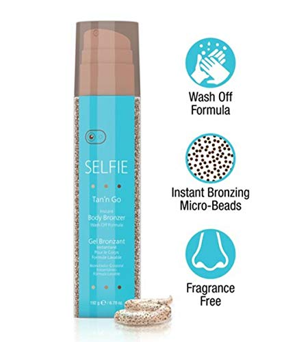 Selfie Tan'n Go Instant Body Bronzer with Wash Off Formula