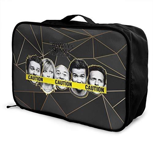 Shanion It's-Always-Sunny-in-Philadelphia-Season Travel Lightweight Waterproof Foldable Storage Luggage Duffle Tote Bag
