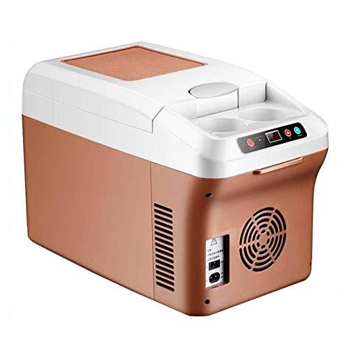 XMYL 15L Refrigerador del Coche, Nevera Termoeléctrica Portátil Mini Eléctrica Refrigerador Multifuncional al Aire Libre Camping Compacta Gran Capacidad Enfriamiento, 24V Camion 12V Coche 220V Hogar