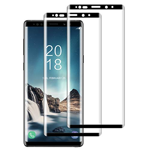 DASFOND Samsung Galaxy Note 9 Tempered Glass Screen Protector [2 Pack], Premium Quality Samsung Galaxy Note 9 Film, 3D Full Coverage, HD Clear, Bubble Free, Shatterproof, Shockproof, Scratchproof