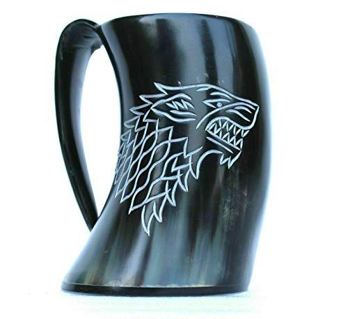 Piru Vikingo - Tazas de bocina para cerveza, vino, Mead Ale Best GOT Stark House