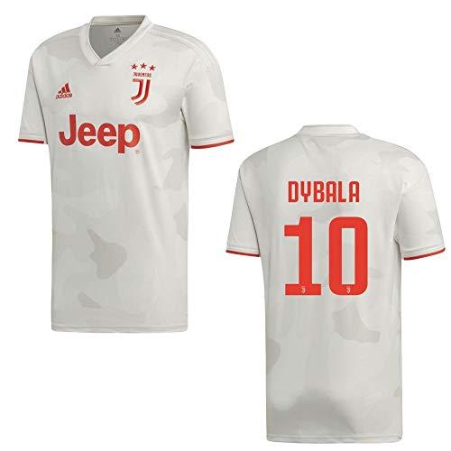 adidas Fußball Juventus Turin FC Away Trikot 2019 2020 Auswärtstrikot Herren Dybala 10 Gr XXL