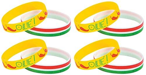 HAPPY DEALS ~ 36 Pack - Cinco De Mayo Mexican Fiesta Party Favor Bracelets