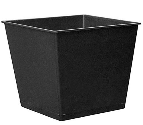 Dehner Universal-Pflanztopf, ca. 26 x 26 x 30 cm, Kunststoff, schwarz