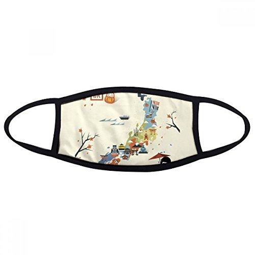 DIYthinker Traditionele Japanse lokale culturele kaart Gezicht Anti-stof Masker Anti Koud Maske Gift
