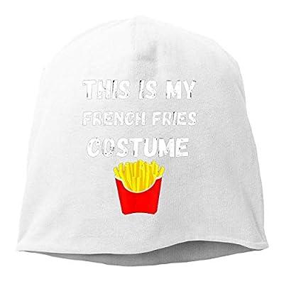 Bikofhd Blanc ceci est Mon Costume de Frites Bonnets Casquettes crâne Chapeaux Unisexe Casquette de Couverture Chaude