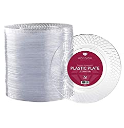 72 Crystal Clear Plastic Plates