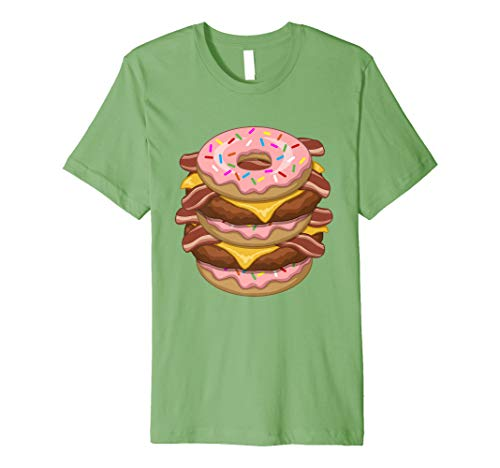 Pink Frosting Sprinkle Donut Double Bacon Cheeseburger