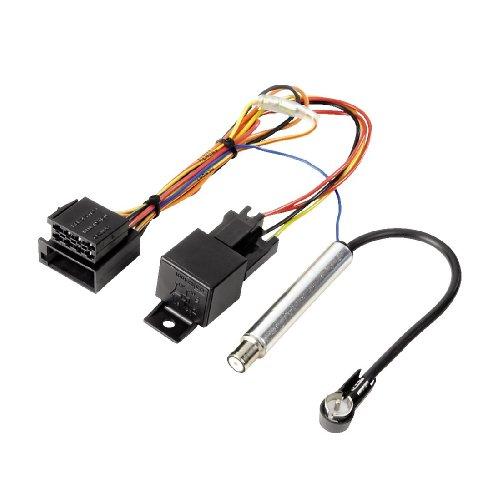Hama Kit de connexion pour autoradio (pour Audi/Volkswagen, ISO - ISO, relais de protection inclus) Noir