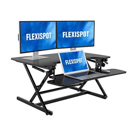 FLEXISPOT 卓上スタンディングデスク 昇降デスク 高さ調節でき オフィス テーブル M8MB