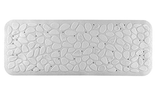 Toyma. 0892/10 - Alfombra baño antides. 95x36cm bañera bl piedras toyma