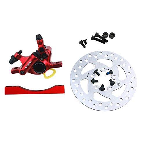 XXLYY Kit de Freno hidráulico para Scooter eléctrico Frenos de Disco de Aluminio Piezas de Scooter de pistón de Disco Kit de Abrazadera hidráulica para M365 Pro Red