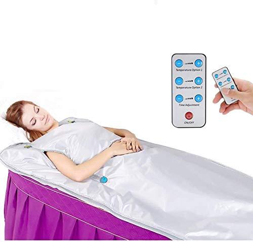 InLoveArts Oxford Infrarot Sauna Decke mit Reißverschluss um deine Hände zu befreien, Ferninfrarot Heizdecke Sauna Blanket für Heimsaunamit Fernbedienung Entgiftungstherapie Hauptbadekurort 650W