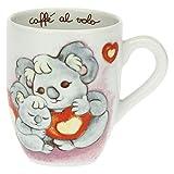 THUN - Mug - Cucina, caffè al Volo - Idea Regalo - Linea Time for Tenderness - Porcellana - 300 ml; Ø 8,5