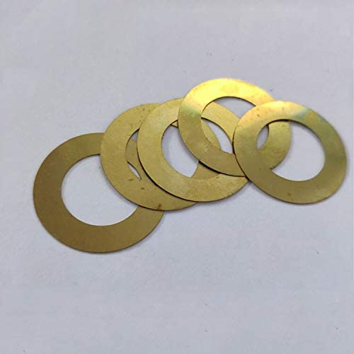 WSHR-63678 10pcs M12 Ultra-Thin Flat Washers Gaskets Brass Washer Gasket 36mm-38mm Outer Dia 1.2mm-2mm Thickness Inner Dia: M12x36mmx2mm