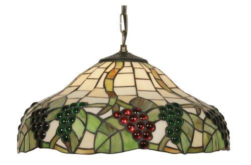 Oaks Lighting OT 0209/16 P - Lámpara de pared (cristal Tiffany), diseño de uvas