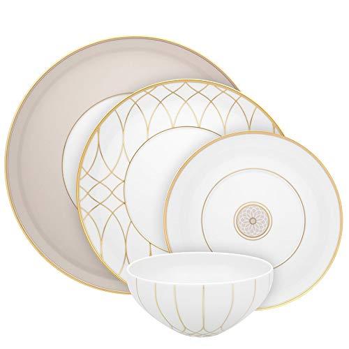 Juego de vajilla de porcelana con 68 piezas
